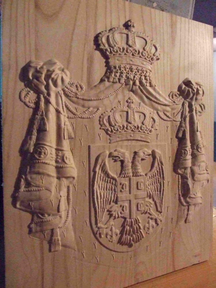 Grb Srbije duborez