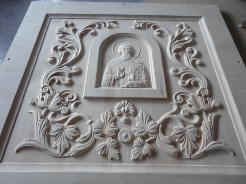 Panel u duborezu za ulazna Crkvena vrata