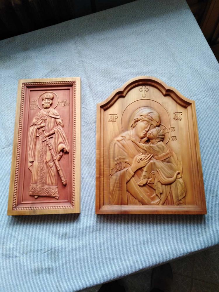 Ikone u duborezu Sveti Knez Lazar i Bogorodica