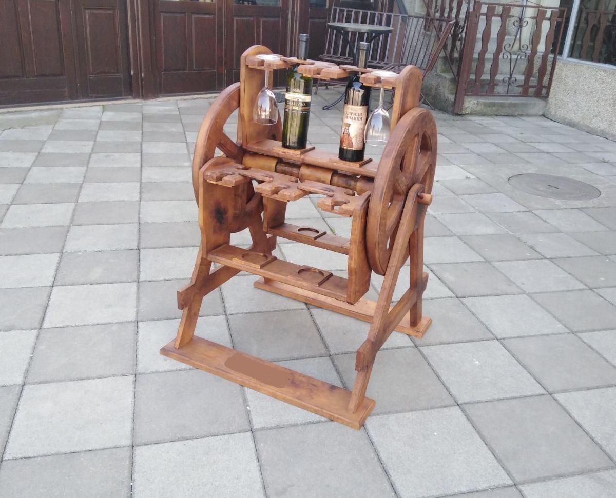 Stalak za vino okretni